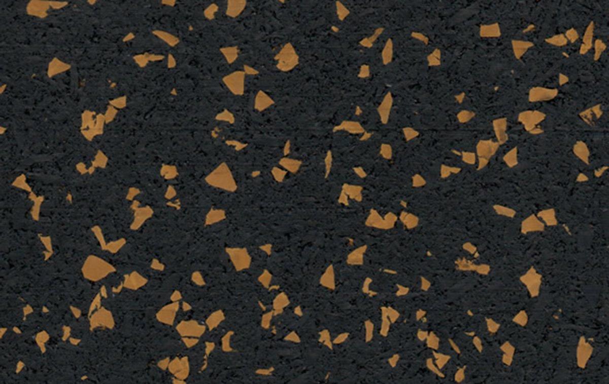 20% Gold Rubber Flooring