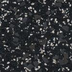 35% Dk Gray & White Rubber Flooring