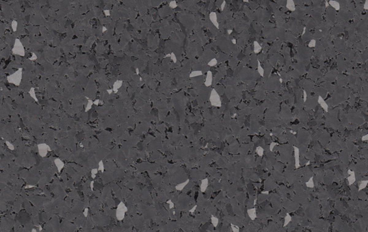 95% Dk Gray Rubber Flooring