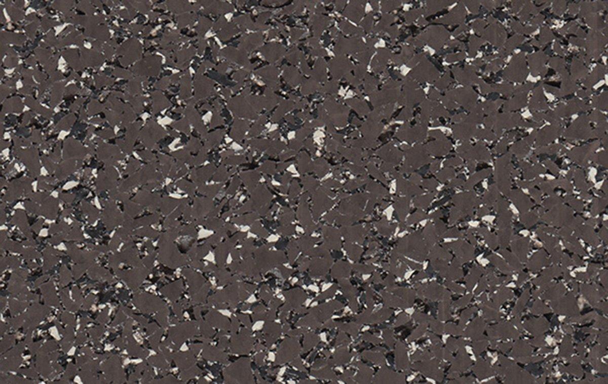 95% Dk Brown, Black & Tan Rubber Flooring