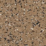 95% Brown, Black & Tan Rubber Flooring