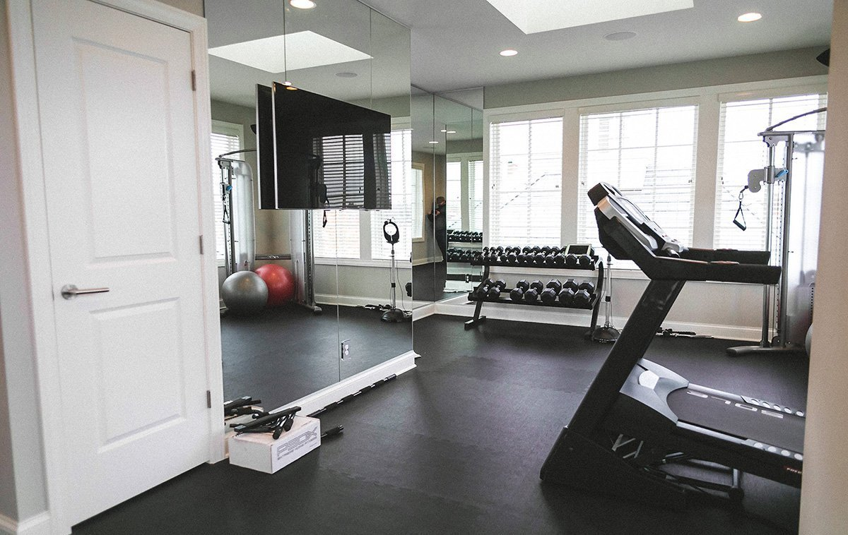 Home Gym With Interlocking Tiles