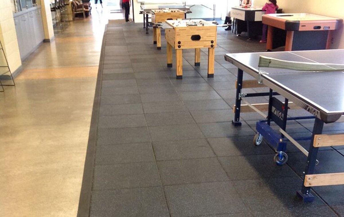 Rubber Tile Flooring For A Rec Room