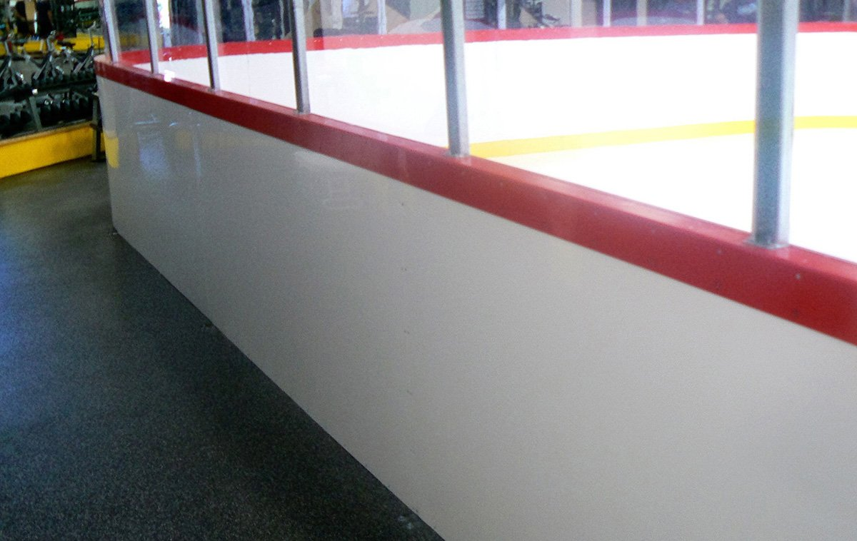 Recycled Rubber Flooring Around An Ice Rink