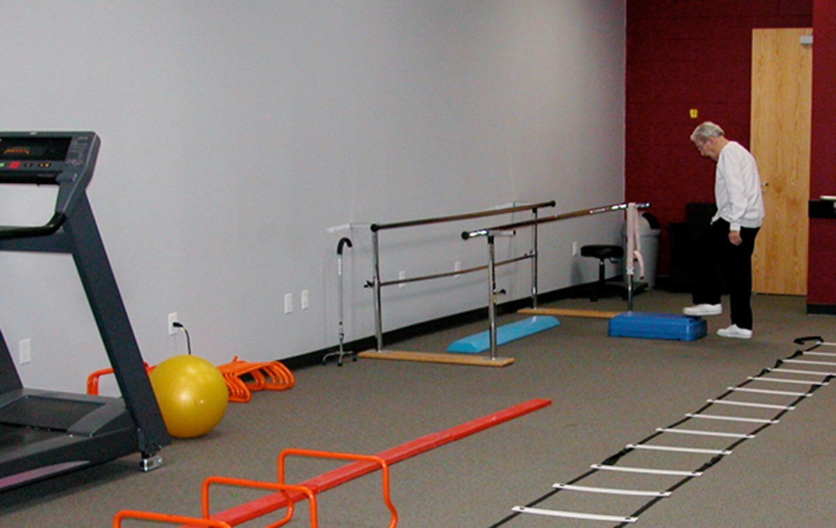 Physical Therapy Center With Rolled Rubber Flooring