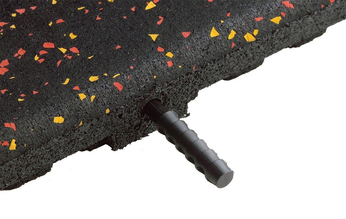 """1"""" Rubber Tile Dowel Connection"""